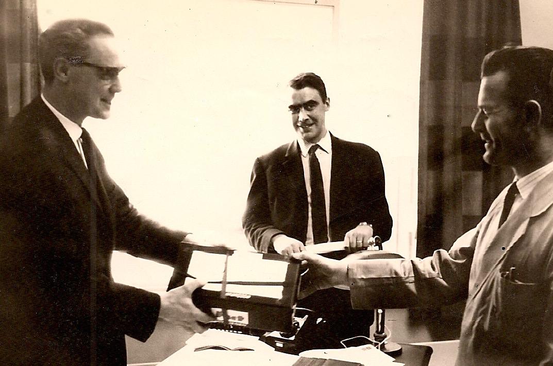 1965-links-Harry-Teeuwes-midden-Ties-Teeuwes-rechts-Karel-Broes